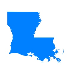 Map of Louisiana vector image vector image