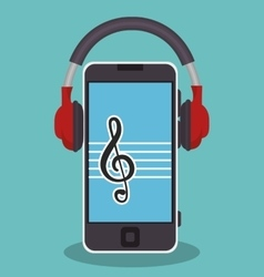 Music player mp3 icon vector