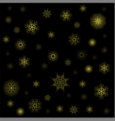 snow flakes seamless pattern christmas texture vector image