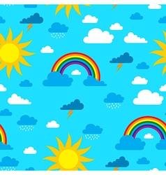 sun pattern vector image vector image