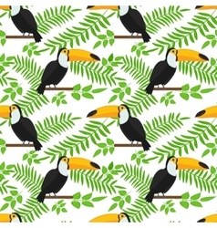 Tropical bird seamless pattern background vector image