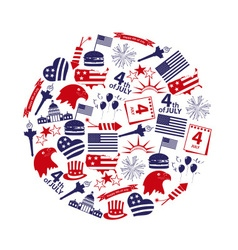 american independence day celebration icons in vector image vector image