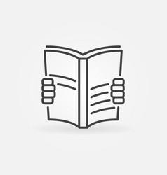 book read icon vector image vector image