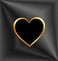 Heart shaped text box vector image vector image