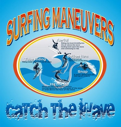 wave surfing vector image vector image