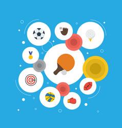 flat icons reward american football volleyball vector image vector image