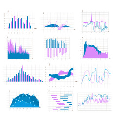 graph and chart colorful set vector image