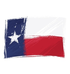 grunge texas flag vector image vector image
