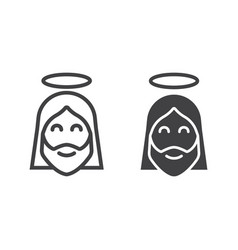 jesus line and glyph icon easter and holiday vector image vector image
