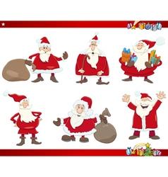 santa on christmas set vector image