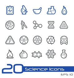 Science Outline Series vector image