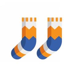 Winter Wool Socks Icon vector image