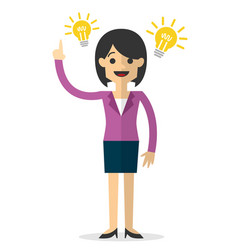 A businesswoman with an idea vector