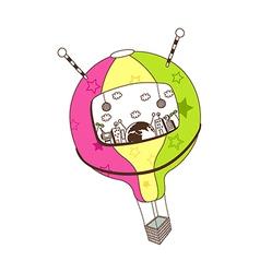 A hot-air balloon vector