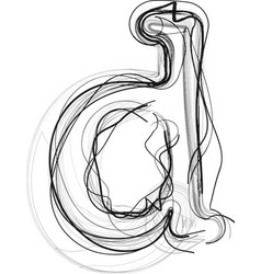 Abstract doodle letter d vector
