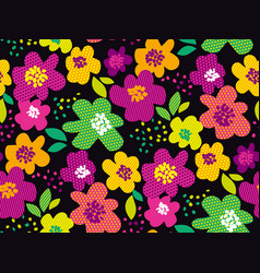 Abstract tropical color floral seamless pattern vector