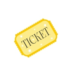 Amusement park ticket icon vector image