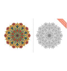 Antistress coloring page mandala eighth vector