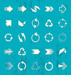 Arrow sign icons retro collection vector