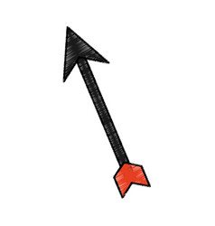 Arrow silhouette isolated icon vector