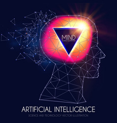 Artificial intelligence human consciousness mind vector