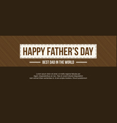 Background style father day greeting card vector