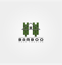 bamboo logo template creative design for business vector image