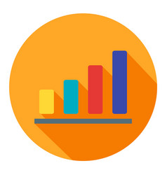 bar chart business flat icon modern style vector image