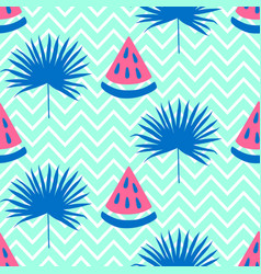 beautiful seamless pattern with watermelon vector image