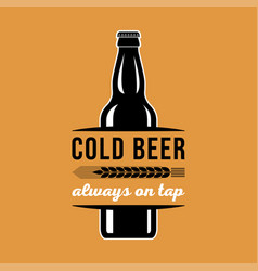 beer advertising cold always on tap vector image