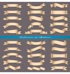 Big set of banners ribbons scrolls vector