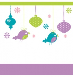 bird decorations vector image