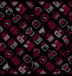 black friday sale seamless pattern vector image
