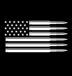 Bullet black and white american usa vector