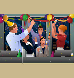 business people celebrating new year vector image