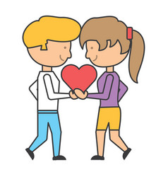 cartoon couple in love vector image