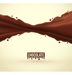 Chocolate Splash vector image