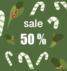 christmas sale banner for use vector image