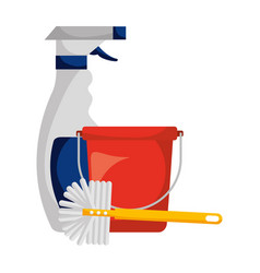 cleaning products and supplies vector image