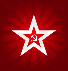 Communism symbols - red star with sickle and vector