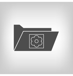 Computer folder with picture vector image