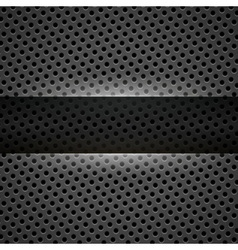 Dark gray metal background vector image