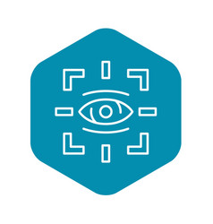 Detect eye icon outline style vector
