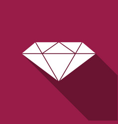 Diamond sign isolated jewelry symbol gem stone vector