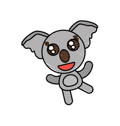 drawing koala animal character vector image