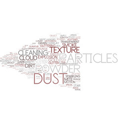 Dust word cloud concept vector