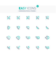 easy icons 31e phones vector image