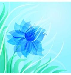 Eps10 azure flower background vector
