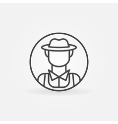 Farmer icon or logo vector