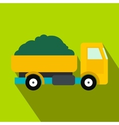 Farmer truck flat icon vector
